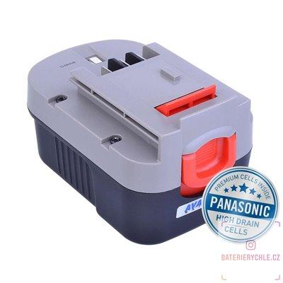 Baterie pro aku nářadí BLACK & DECKER A144, A1714 Ni-MH 14,4V 3000mAh 1ks (Avacom, články Panasonic)