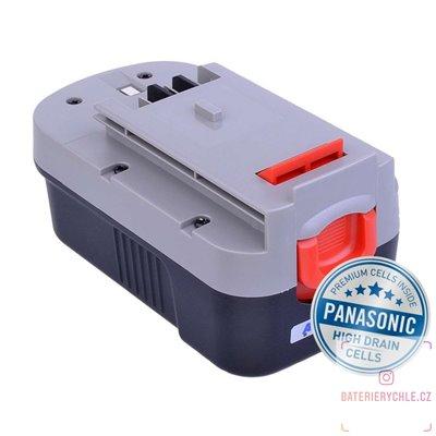 Baterie pro aku nářadí BLACK & DECKER A1718 Ni-MH 18V 3000mAh 1ks (Avacom, články Panasonic)