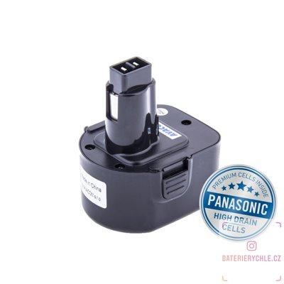 Baterie pro aku nářadí BLACK & DECKER A9252  Ni-Mh 12V 3000mAh 1ks (Avacom, články Panasonic)
