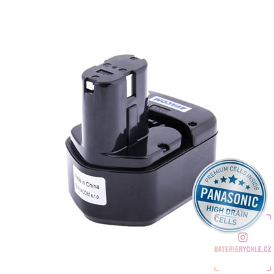 Baterie pro aku nářadí HITACHI EB1214S  Ni-Mh 12V 3000mAh 1ks (Avacom, články Panasonic)