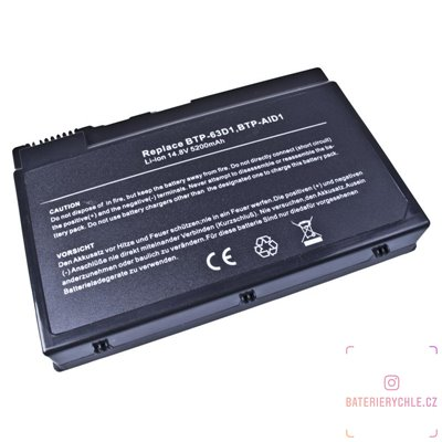 Baterie pro notebook Acer TravelMate 2410 series, C300 series BTP-63D1 Li-Ion 14,8V 5200mAh 77Wh 1ks