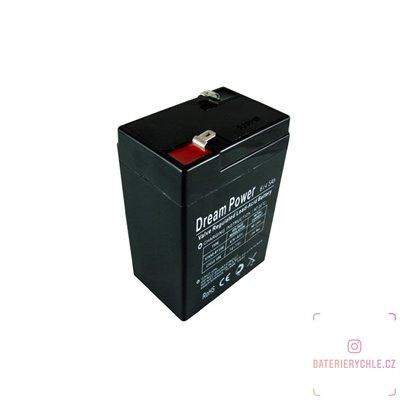 Olověný akumulátor Dream Power 6V 4.5Ah AGM bezúdržbový 1ks