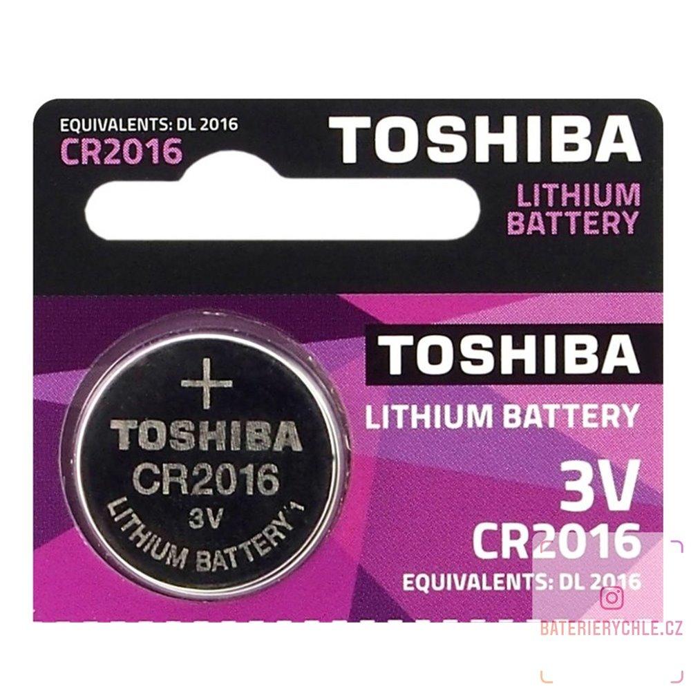 CR2016 Knoflíková baterie Toshiba 3V, 90mAh, lithiová, 1ks, blistr
