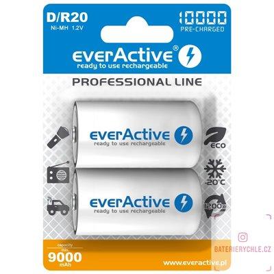 Nabíjecí baterie everActive professional line D 10000mAh 2ks, blistr