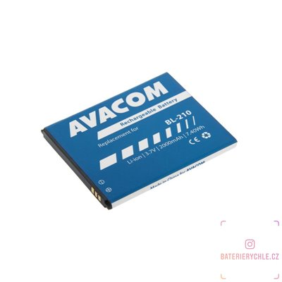 Baterie do mobilu Lenovo A536 Li-Ion 3,7V 2000mAh (náhrada BL210) 1ks