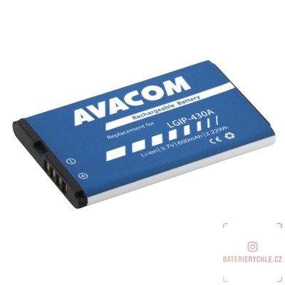 Baterie do mobilu LG KP100 Li-Pol 3,7V 600mAh (náhrada LGIP-430A) 1ks