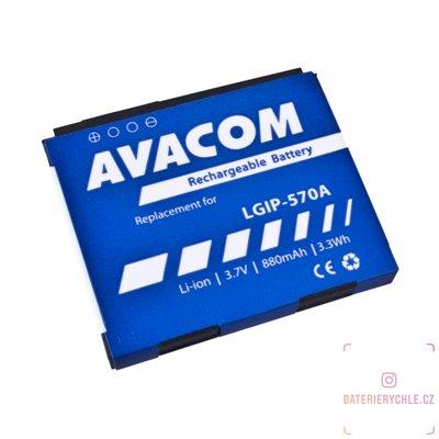 Baterie do mobilu LG KP500 Li-Ion 3,7V 880mAh (náhrada LGIP-570A) 1ks