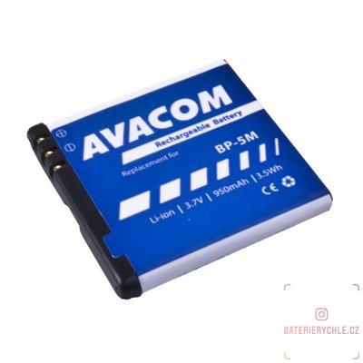 Baterie do mobilu Nokia N81, 6500 Slide Li-Ion 3,7V 950mAh (náhrada BP-5M) 1ks