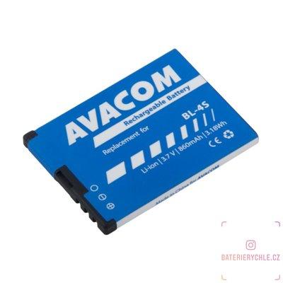Baterie do mobilu Nokia 3600 Slide, 2680 Li-Ion 3,7V 860mAh (náhrada BL-4S) 1ks