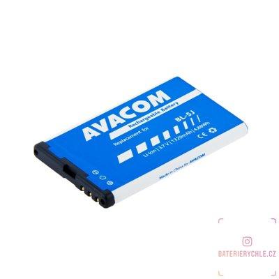 Baterie do mobilu Nokia 5230, 5800, X6 Li-Ion 3,7V 1320mAh (náhrada BL-5J) 1ks