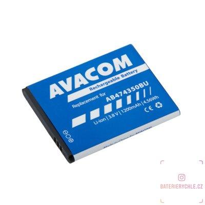 Baterie do mobilu Samsung G810, i8510 Li-Ion 3,7V 1200mAh (náhrada AB474350BU) 1ks