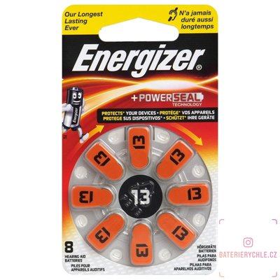 Baterie do naslouchadel Energizer 13 (PR48) 8ks, blistr