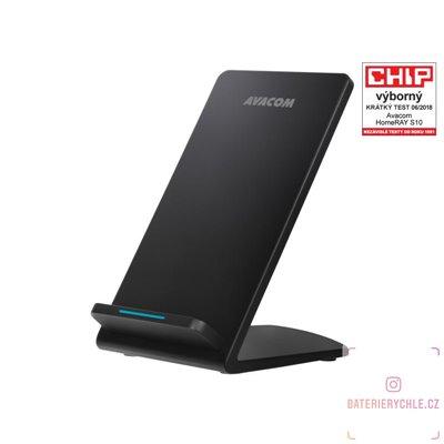 HomeRAY S10 bezdrátová nabíječka stojánek, černá 1ks