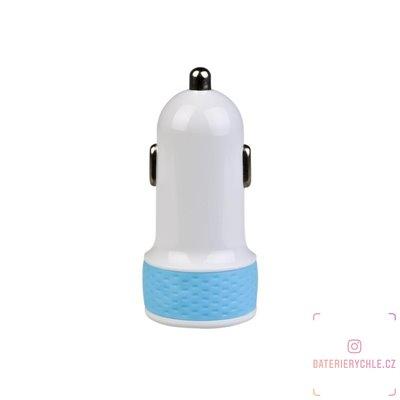 nabíječka do auta s výstupem USB 5V/1A, bílo-modrá barva 1ks