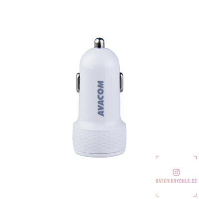 nabíječka do auta se dvěma USB výstupy 5V/1A - 3,1A, bílá barva 1ks