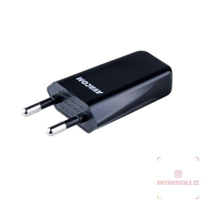 síťová nabíječka 1A s jedním výstupem, černá barva 1ks