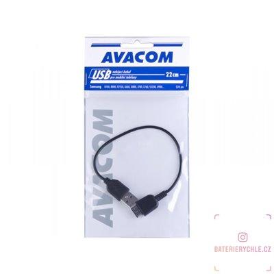 Nabíjecí USB kabel pro telefony Samsung G800, L760, S5230 (22cm) 1ks