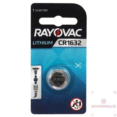 CR1632 Knoflíková baterie Rayovac, 3V, 120mAh, lithiová