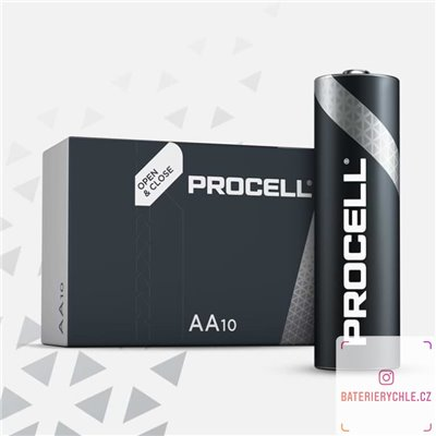 Baterie Duracell Procell Industrial LR6 AA 3016mAh 10ks, box
