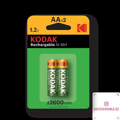 Nabíjecí baterie Kodak NiMH AA 2600mAh 2ks, blistr