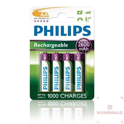 Nabíjecí baterie Philips NiMH AA 2600mAh 4ks, blistr