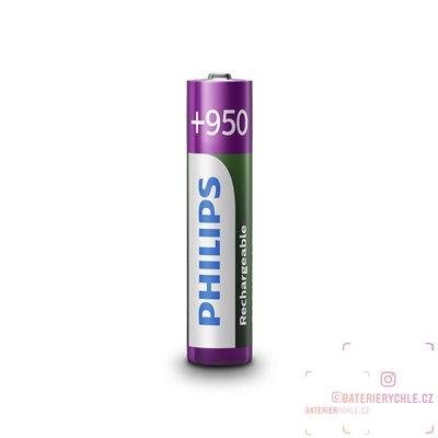 Nabíjecí baterie Philips NiMH AAA 800mAh 4ks, blistr
