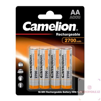 Nabíjecí baterie (akumulátor) Camelion NiMH AA 2700mAh 4ks blistr + box NH-AA2700