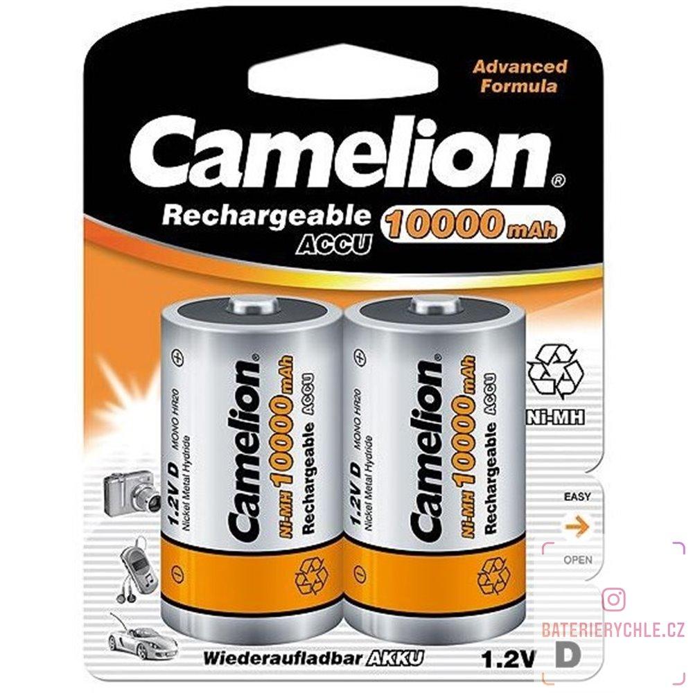 Nabíjecí baterie Camelion professional line D 10000mAh 2ks, blistr
