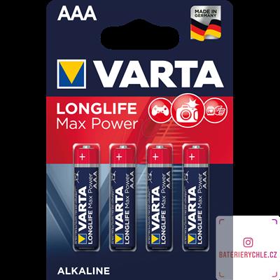 Baterie Varta LongLife Max Power AAA 4ks, blistr  4703101404