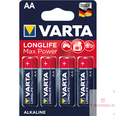 Baterie Varta LongLife Max Power AA 4ks, blistr 4706101404