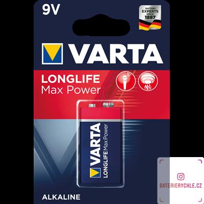Baterie Varta LongLife Max Power  6LR61 9V 1ks, blistr 4722101401
