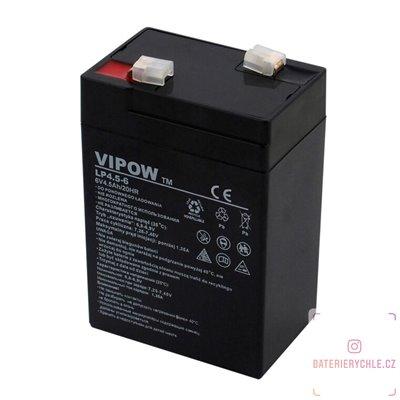 Olověný akumulátor Vipow 6V 4.5Ah AGM bezúdržbový 1ks