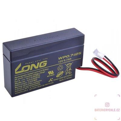 Long 12V 0,7Ah olověný akumulátor JST (WP0.7-12S)