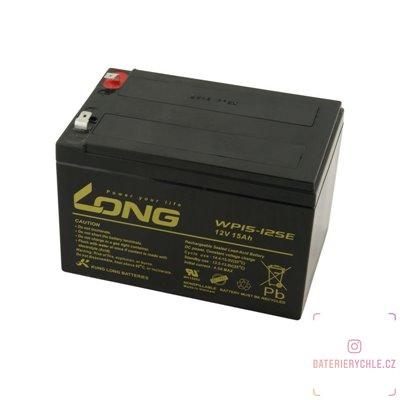 Long 12V 15Ah olověný akumulátor DeepCycle AGM F2 (WP15-12SE)
