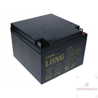 Long 12V 26Ah olověný akumulátor F3 (WP26-12)