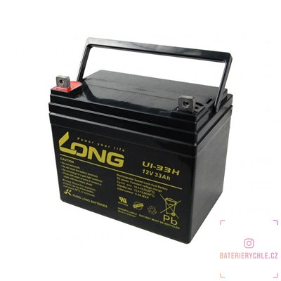 Long 12V 33Ah olověný akumulátor F4 (U1-33H)