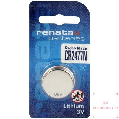 CR2477 Knoflíková baterie Renata, 3V, 1000mAh, lithiová, 1ks, blistr