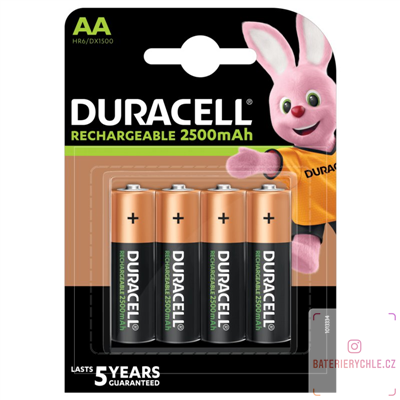 Nabíjecí baterie Duracell Recharge Turbo AA 2500mAh 4ks, blistr