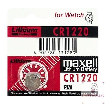 CR1220 Knoflíková baterie Maxell 3V, 35mAh, lithiová, 1ks, blistr