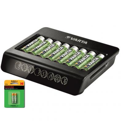 Inteligentní nabíječka baterií VARTA LCD Multi Charger Plus 57681 pro 8 x AA/AAA článků, Ni-Mh (57681101401)