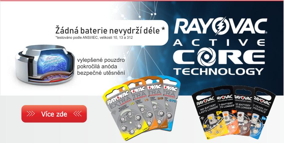 Rayovac - baterie do naslouchadla, naslouchátka a pro kochleární implantáty.